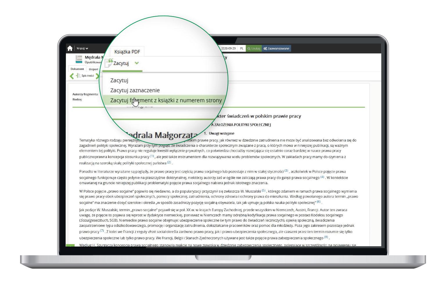 Cytowanie publikacji prawniczych w LEX Context