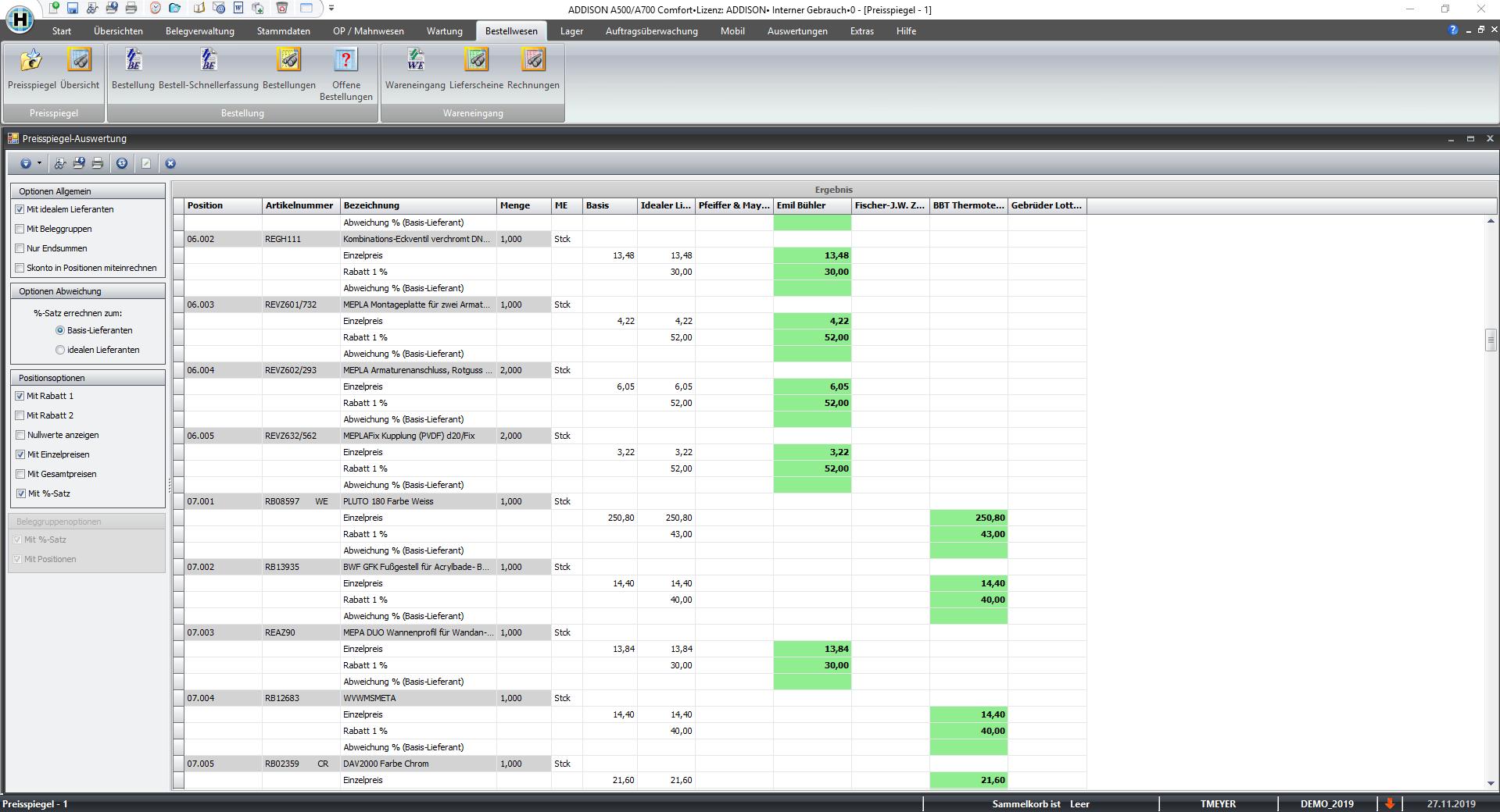 Handwerk Bestellwesen Screenshot