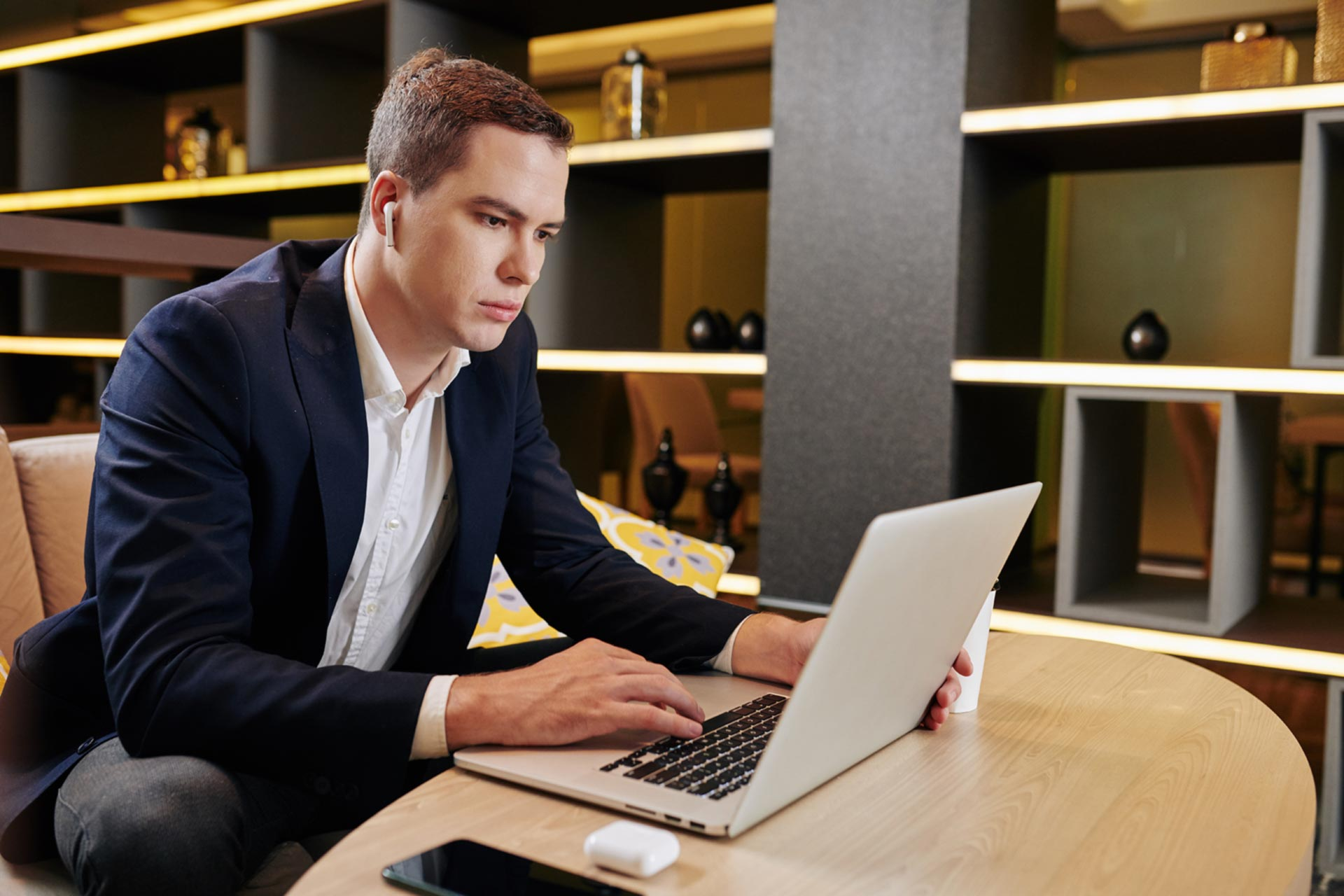 Man reviewing an apostillized copy of documents