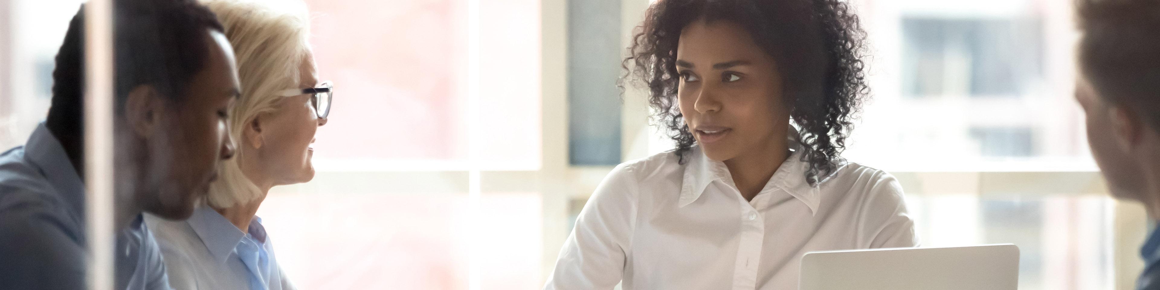 female business leader in boardroom