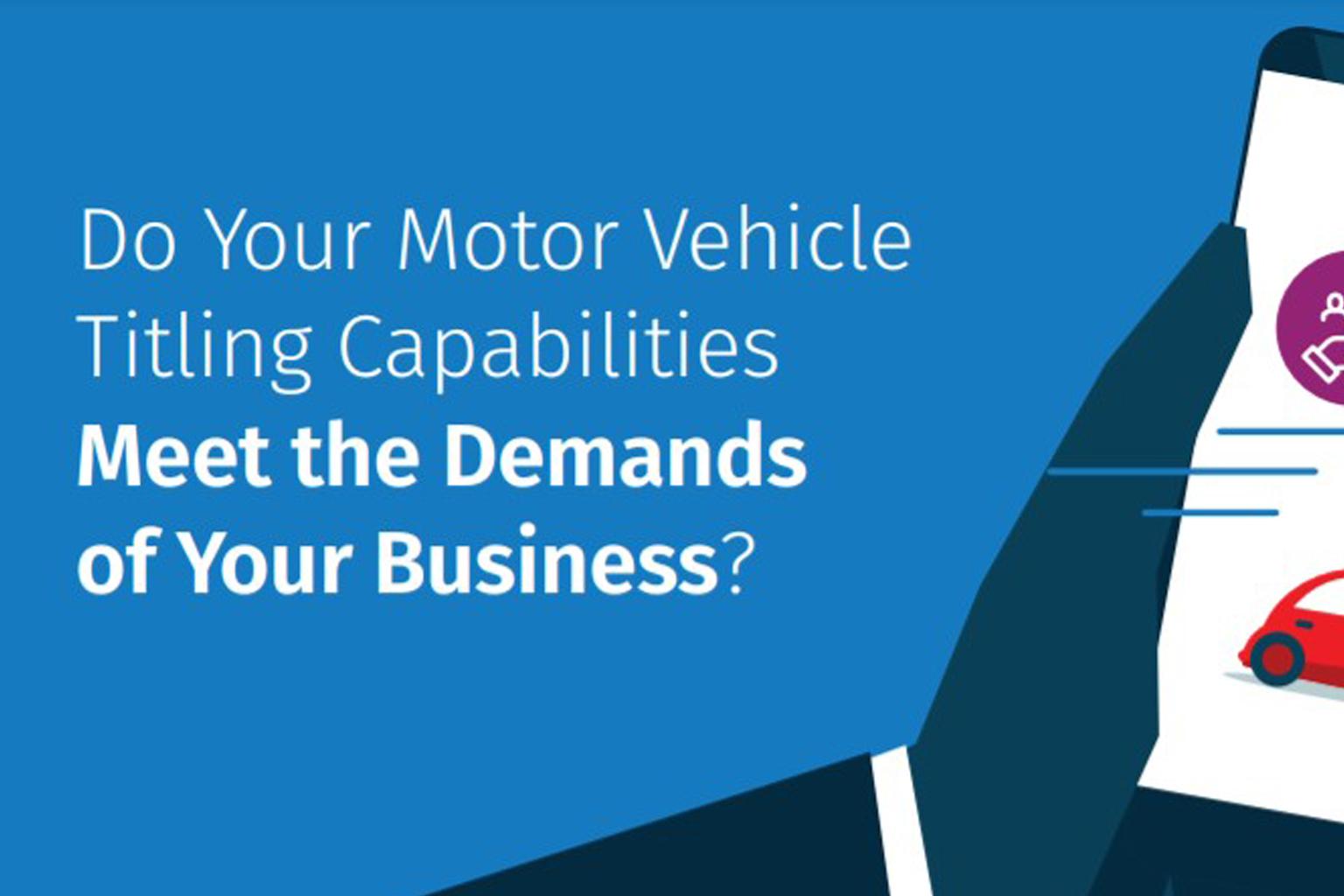 Motor vehicle refinance infographic