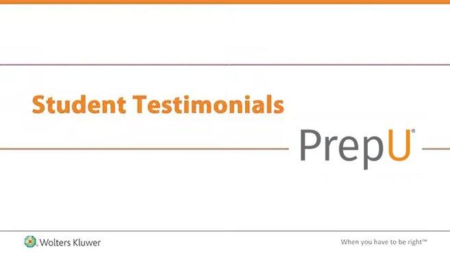 Screenshot of Student testimonials: PrepU video