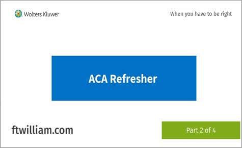 ACA Refresher part 2 of 4