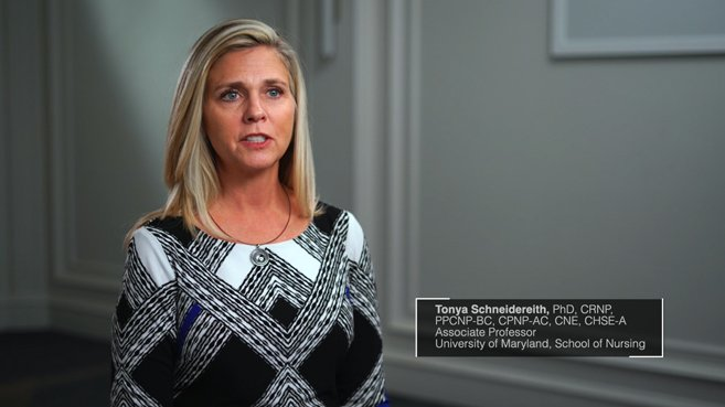 Screenshot from Tonya Schneidereith's clinical judgement video