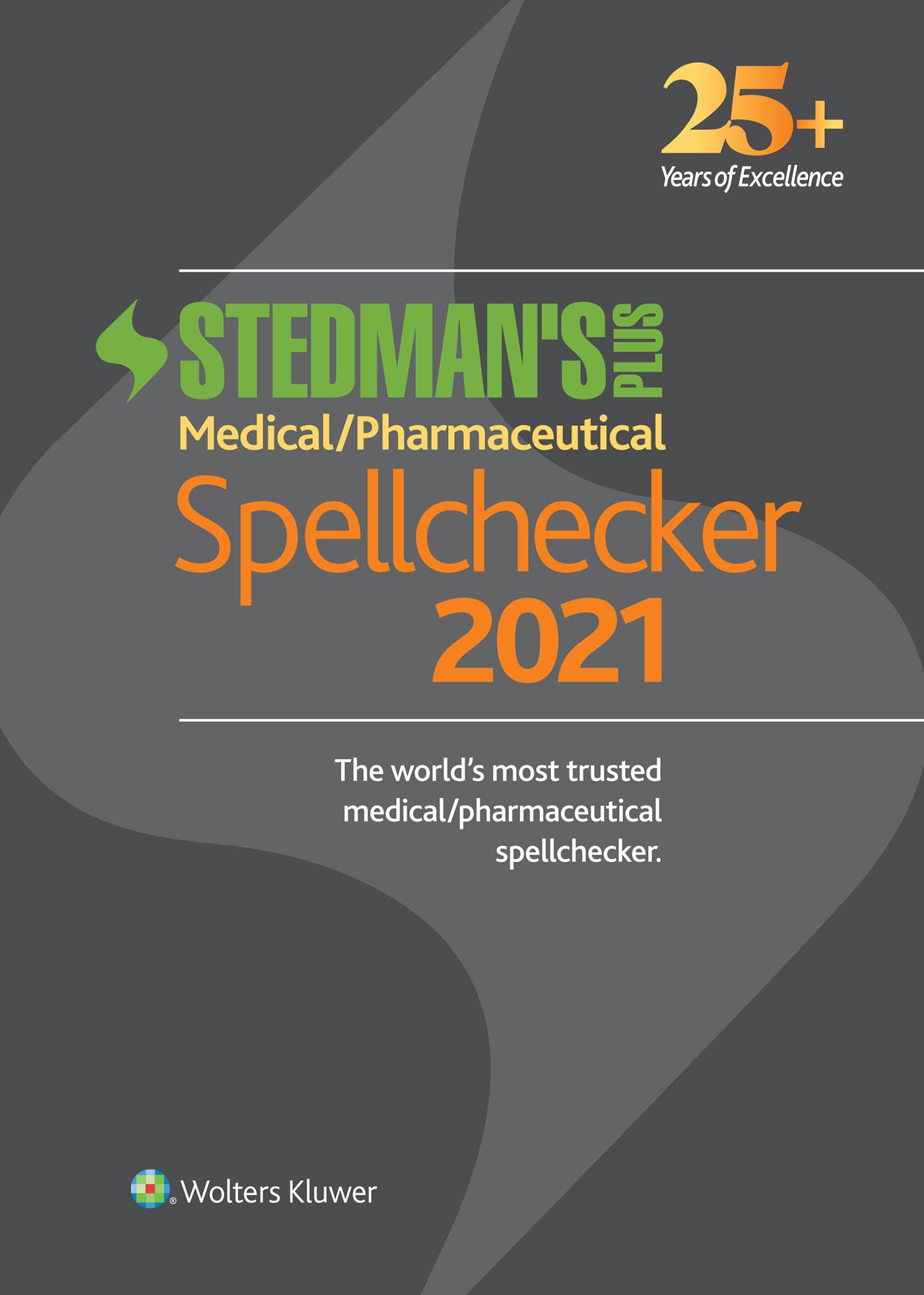 Stedman's Plus Spellchecker book cover