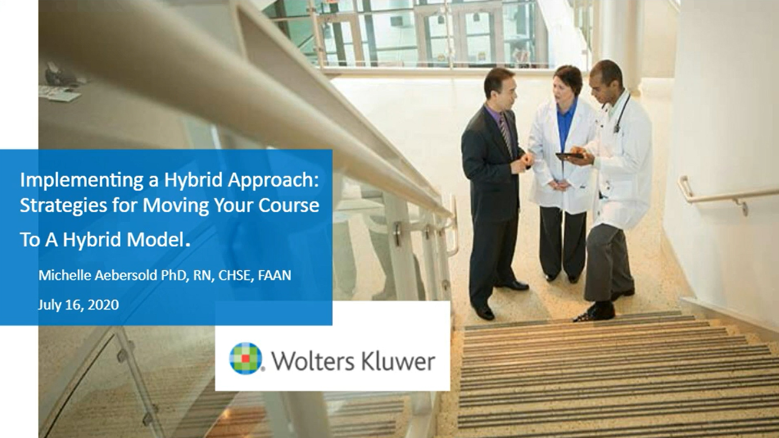 Screenshot of Implementing a hybrid approach: Strategies for moving your nursing course to a hybrid model video