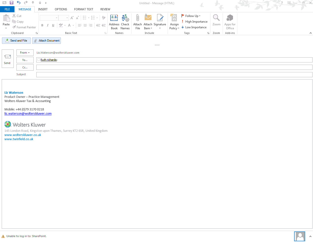 CCH Document Management Send and Share screenshot