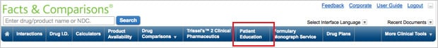 Patient Education Databases