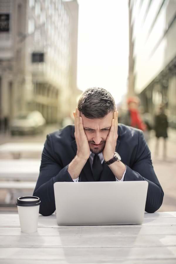 pensive man bankrupcty