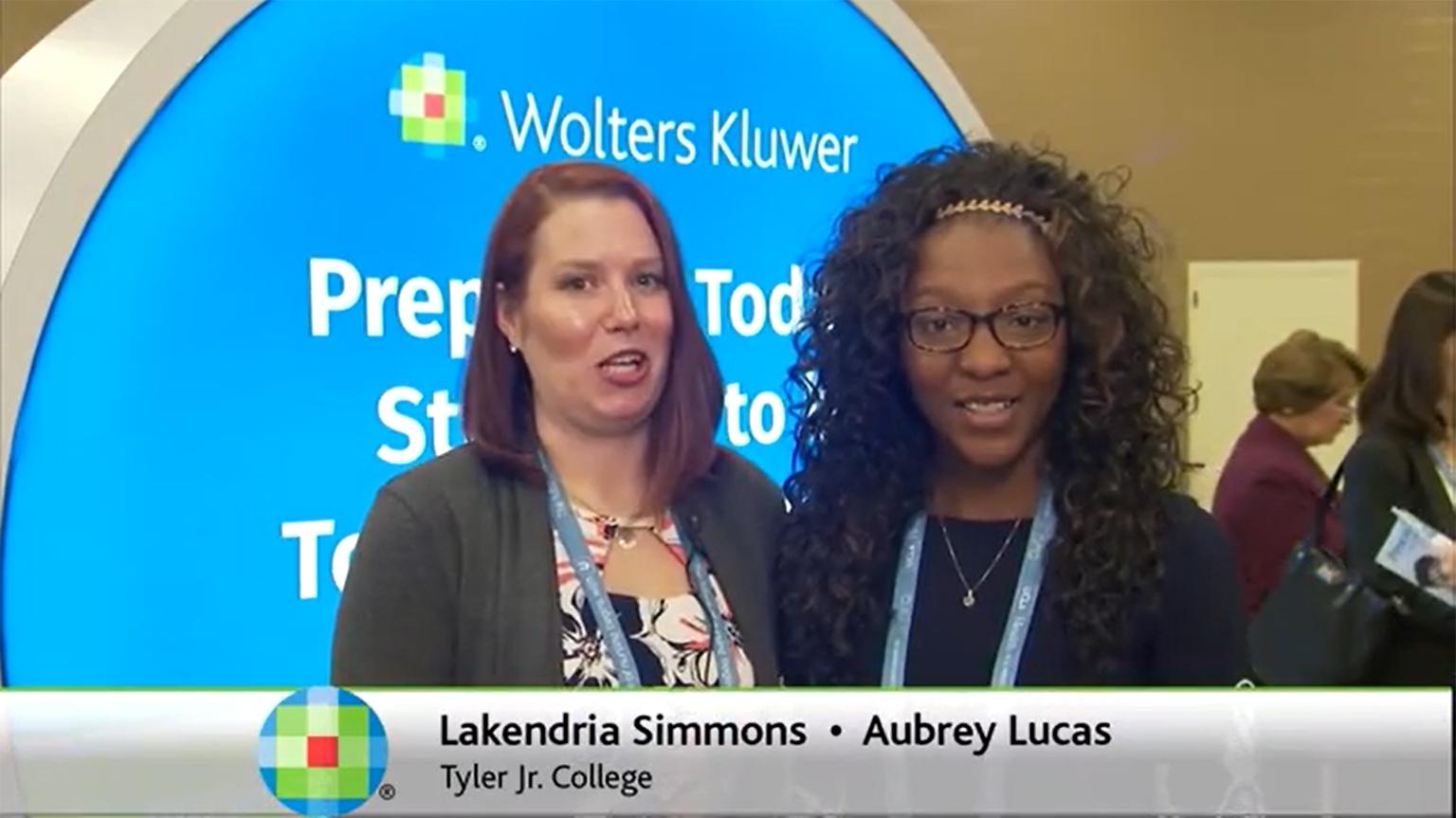 Screenshot of Lippincott PassPoint testimonial video of Lakendria Simmons and Aubrey Lucas