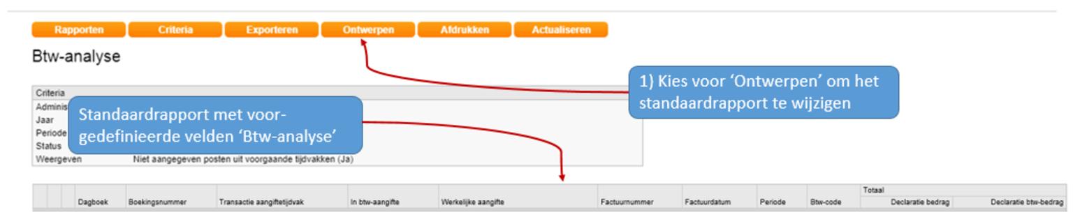 Screenshot van elektronische belastingaangifte suppletie vanuit Twinfield