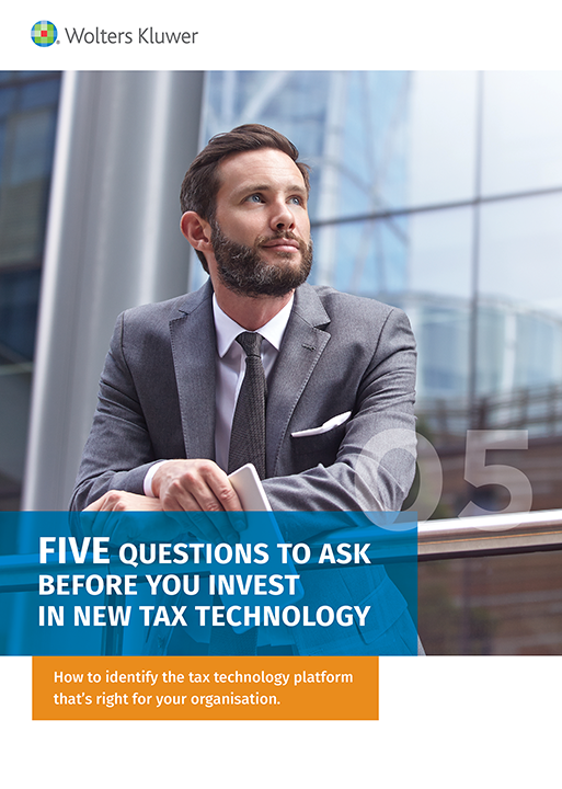 Cover Guide five key questions to ask about tax technology before investing in a new solution