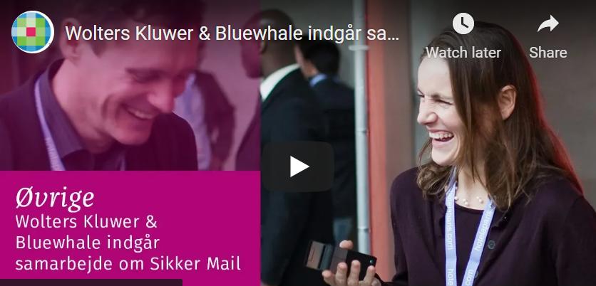 Wolters Kluwer & Bluewhale indgår samarbejde om Sikker Mail