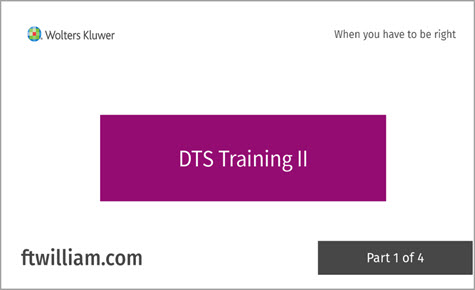 DTS Training II part 1 of 4