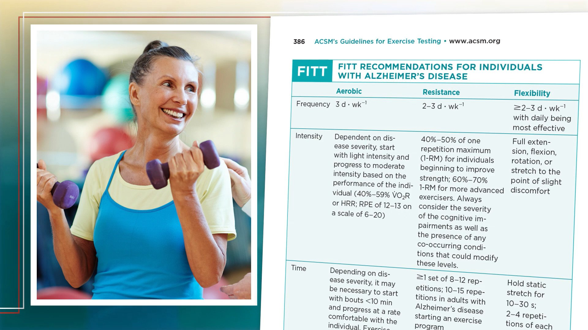 Screenshot of Brain Related updates to ACSM's Guidelines for Exercise Testing and Prescription, 11th Edition video