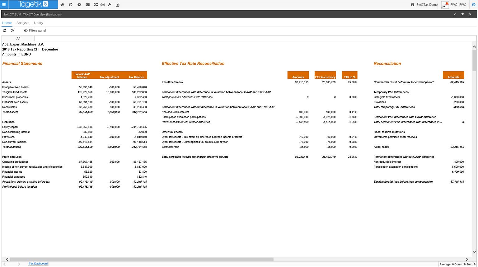 Full Tax Accounting Module