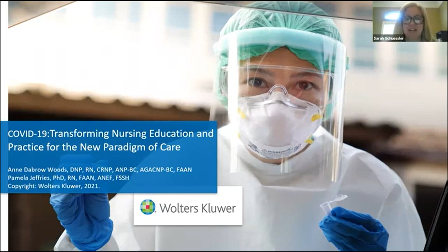 Screenshot of COVID-19: Transforming nursing education and practice for the new paradigm of care video