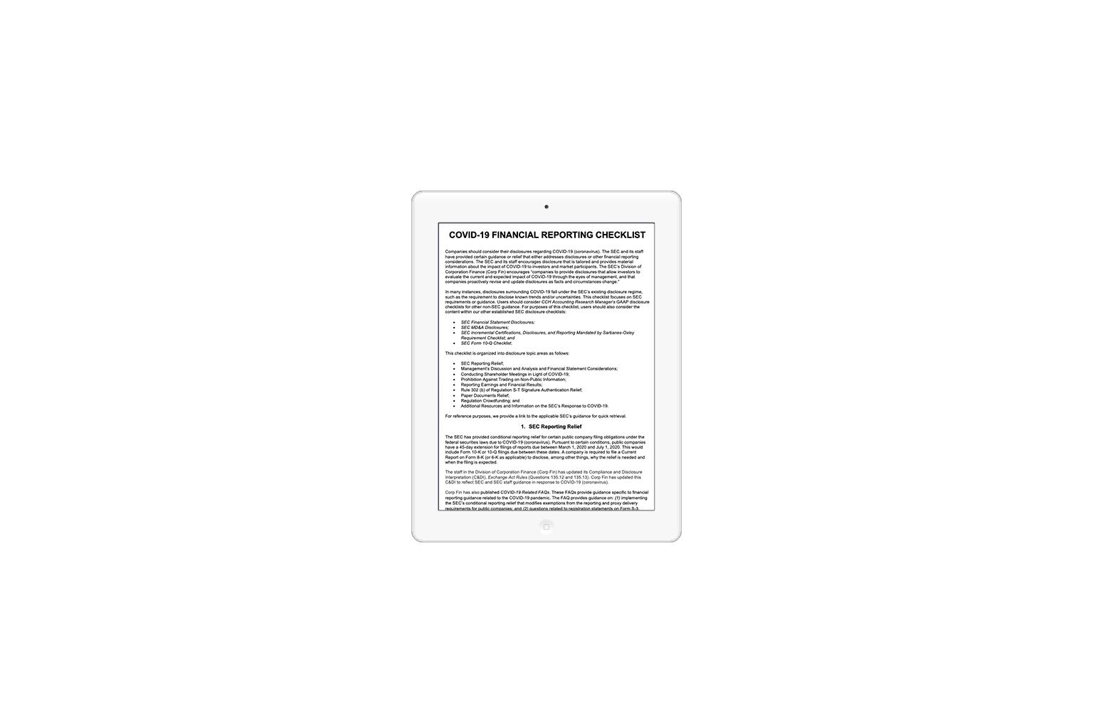 Financial Reporting Checklist