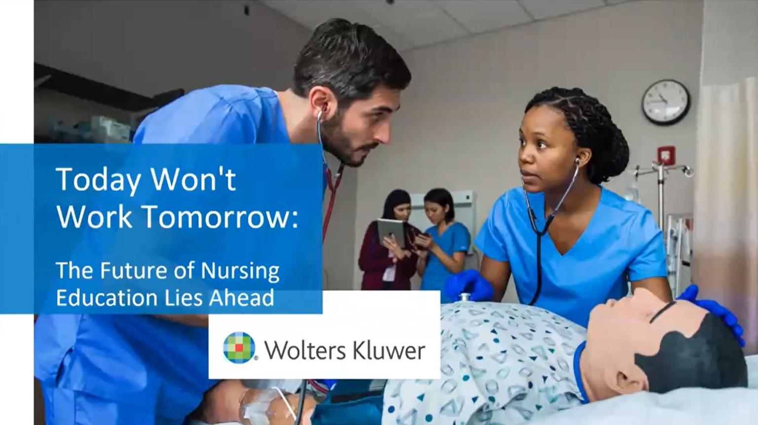 Screenshot of Today won't work tomorrow: The future of nursing education lies ahead video