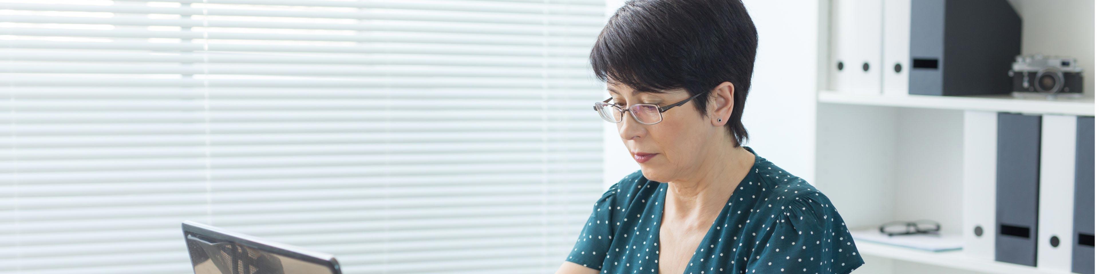 woman researching employee insubordination