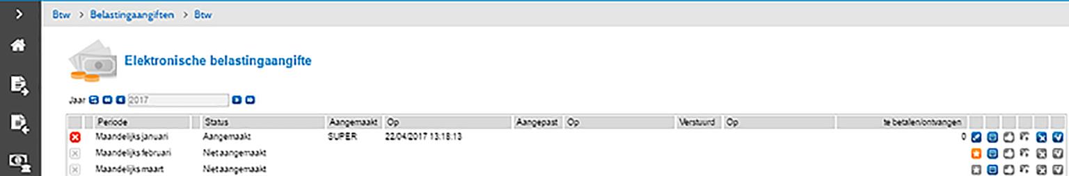 screenshot aanmaken elektronische belastingaangifte