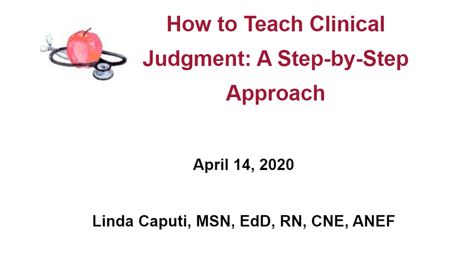 Screenshot of How to teach clinical judgment: A step-by-step approach video