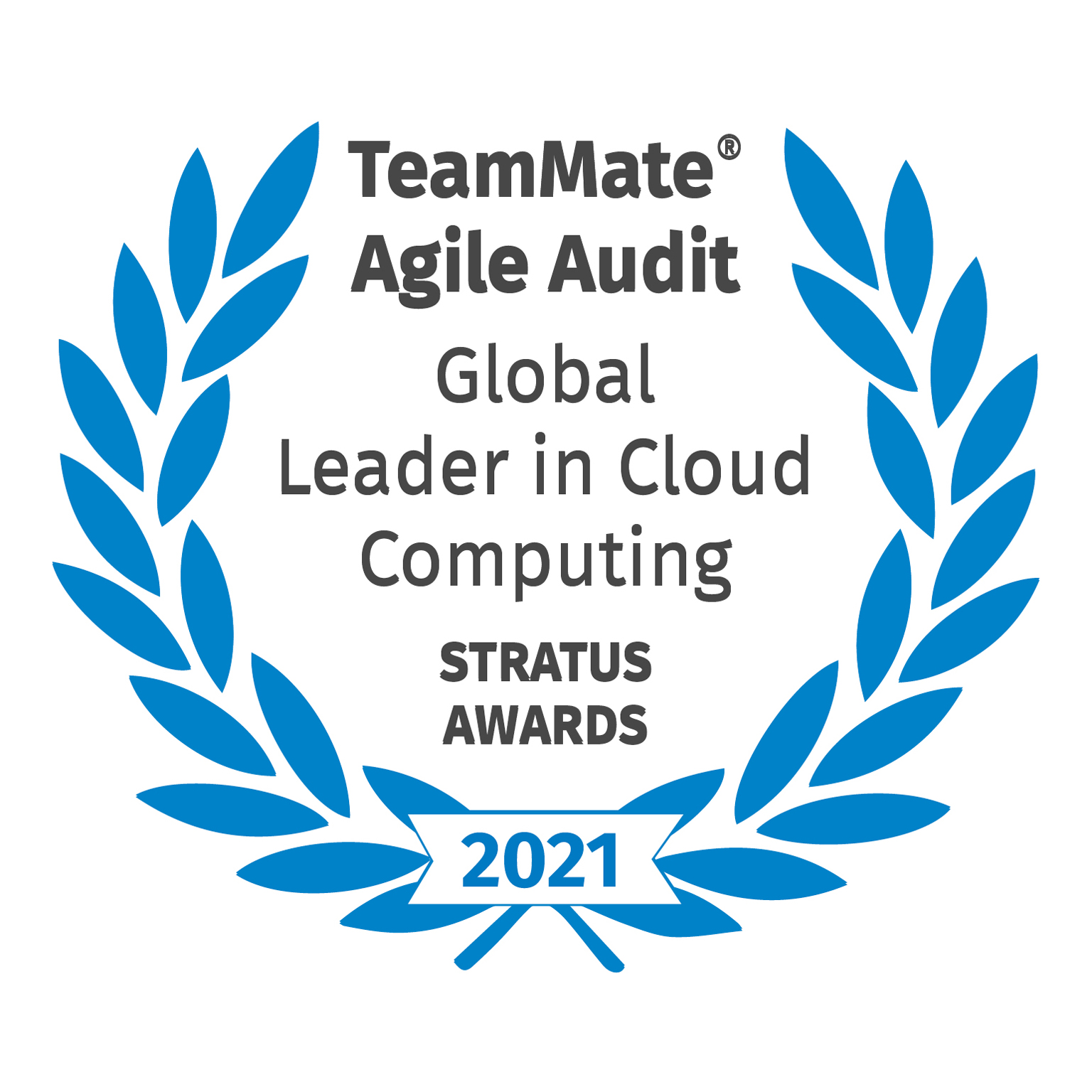 TeamMate Agile Audit - Global Leader in Cloud Computing - Stratus Awards - 2021
