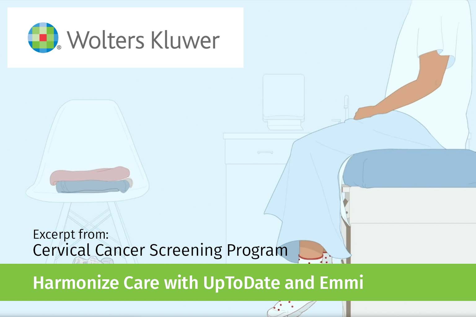 video screen - excerpt from cervical cancer video