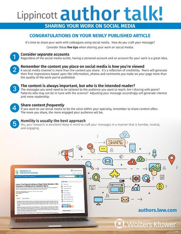 Lippincott author talk! social media infographic