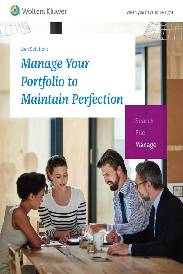 Manage your lien portfolio to perfection cover
