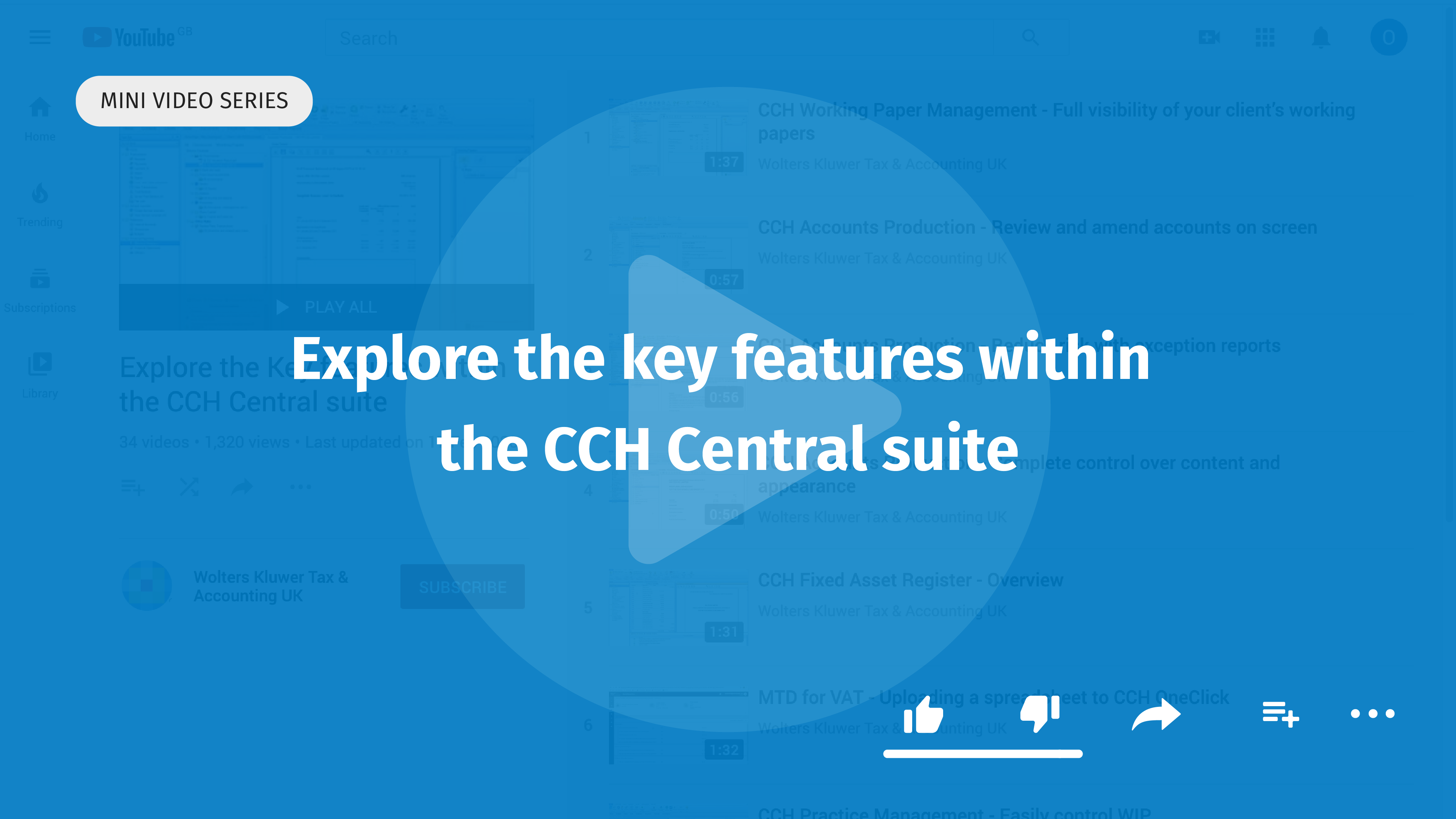 Explore the key features within the CCH Central suite