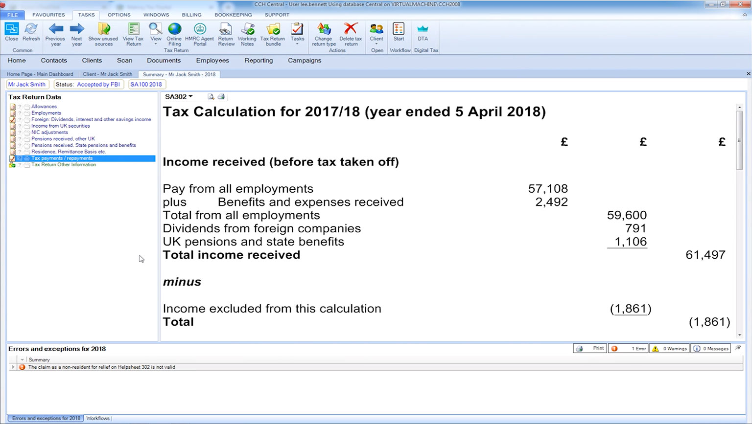 CCH Personal Tax - Quickly view the dividend feed from FTSE 350 companies