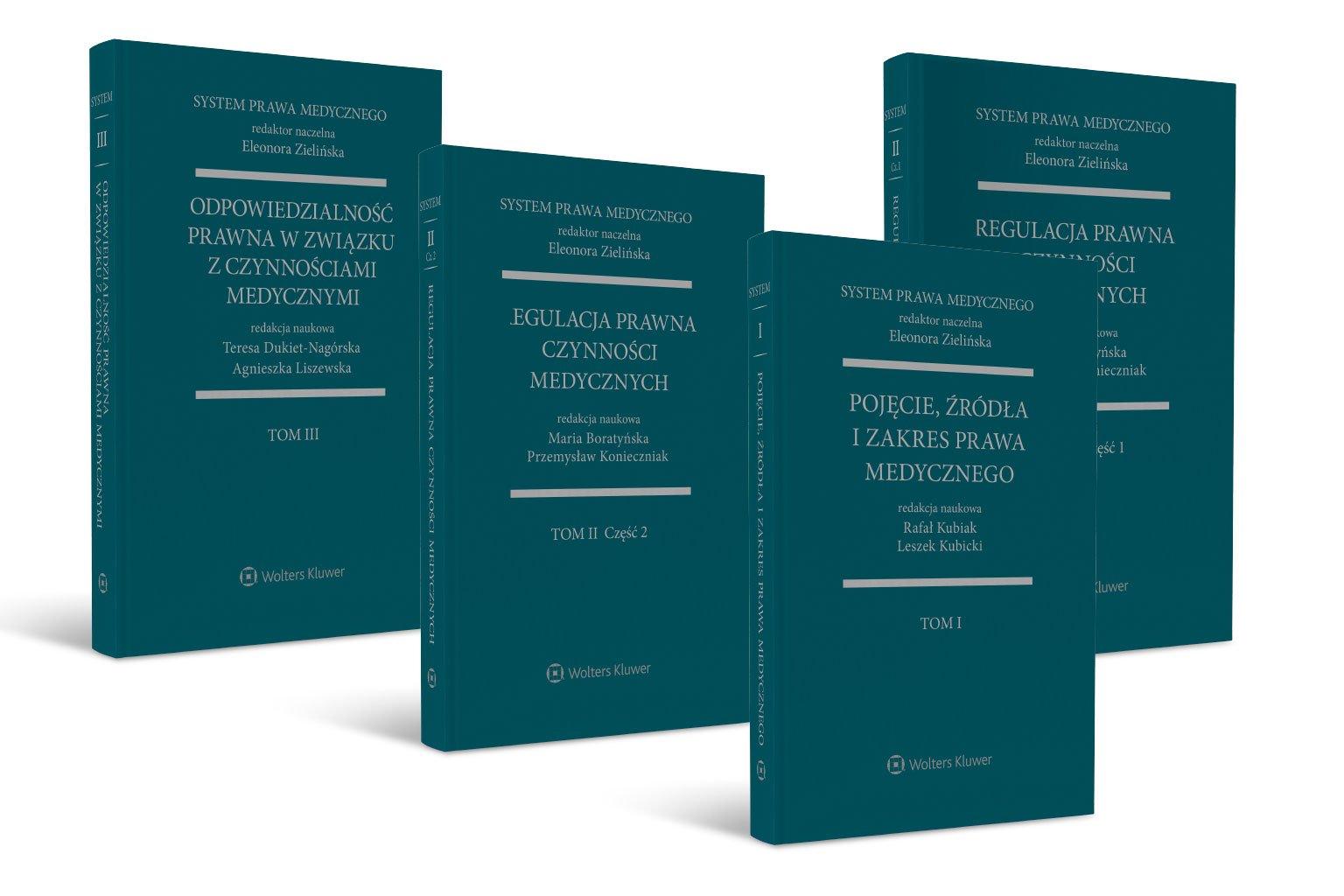 Obecnie dostępne w LEX tomy Systemu Medycznego: