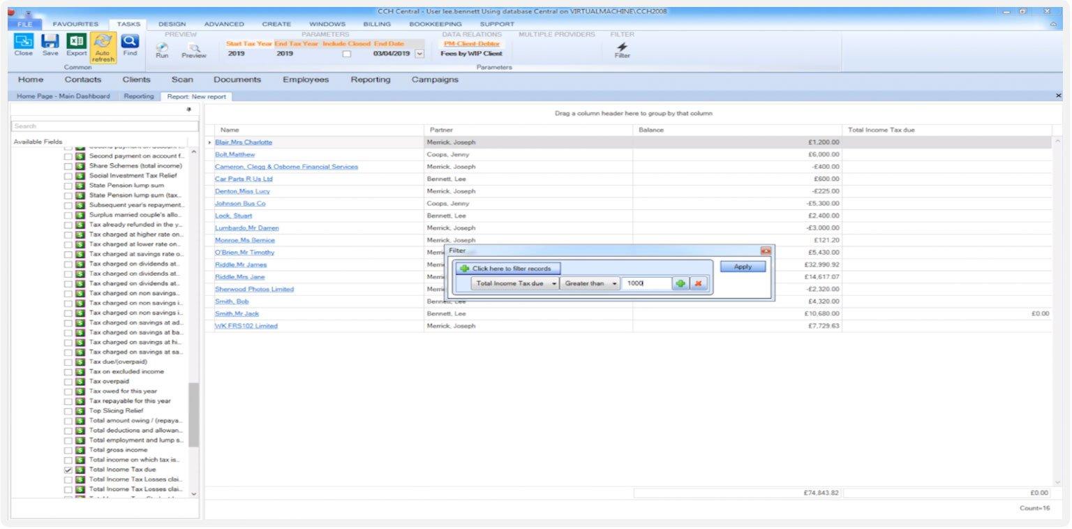 Quickly create custom reports