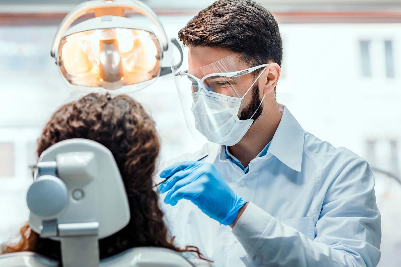patient undergoing dental procedure