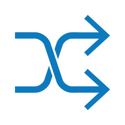 Essentials Icon Decisive Integration Blue