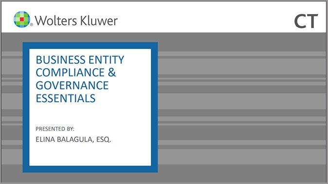 Business Entity Compliance & Governance Essentials