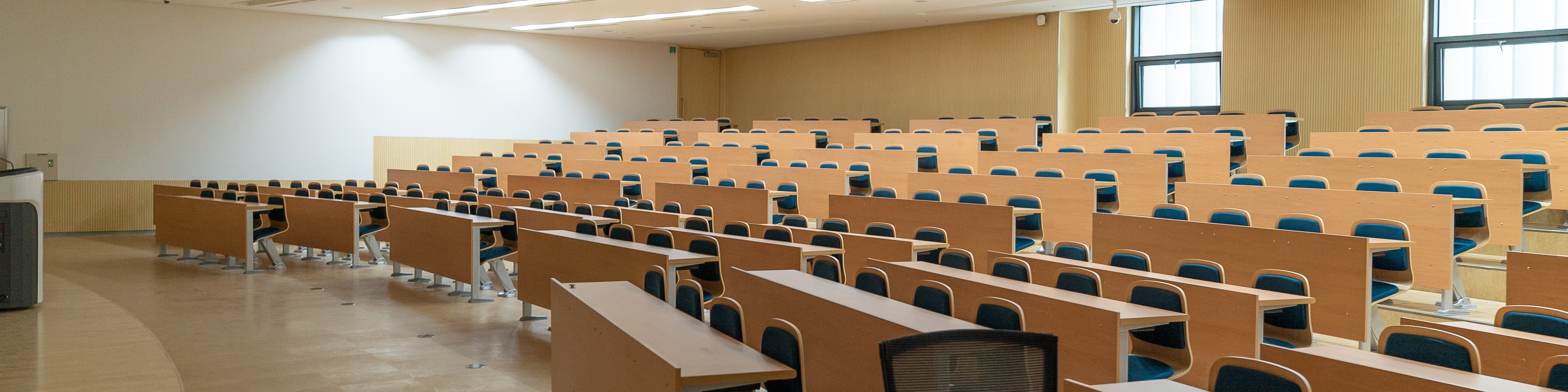 Large, empty lecture hall