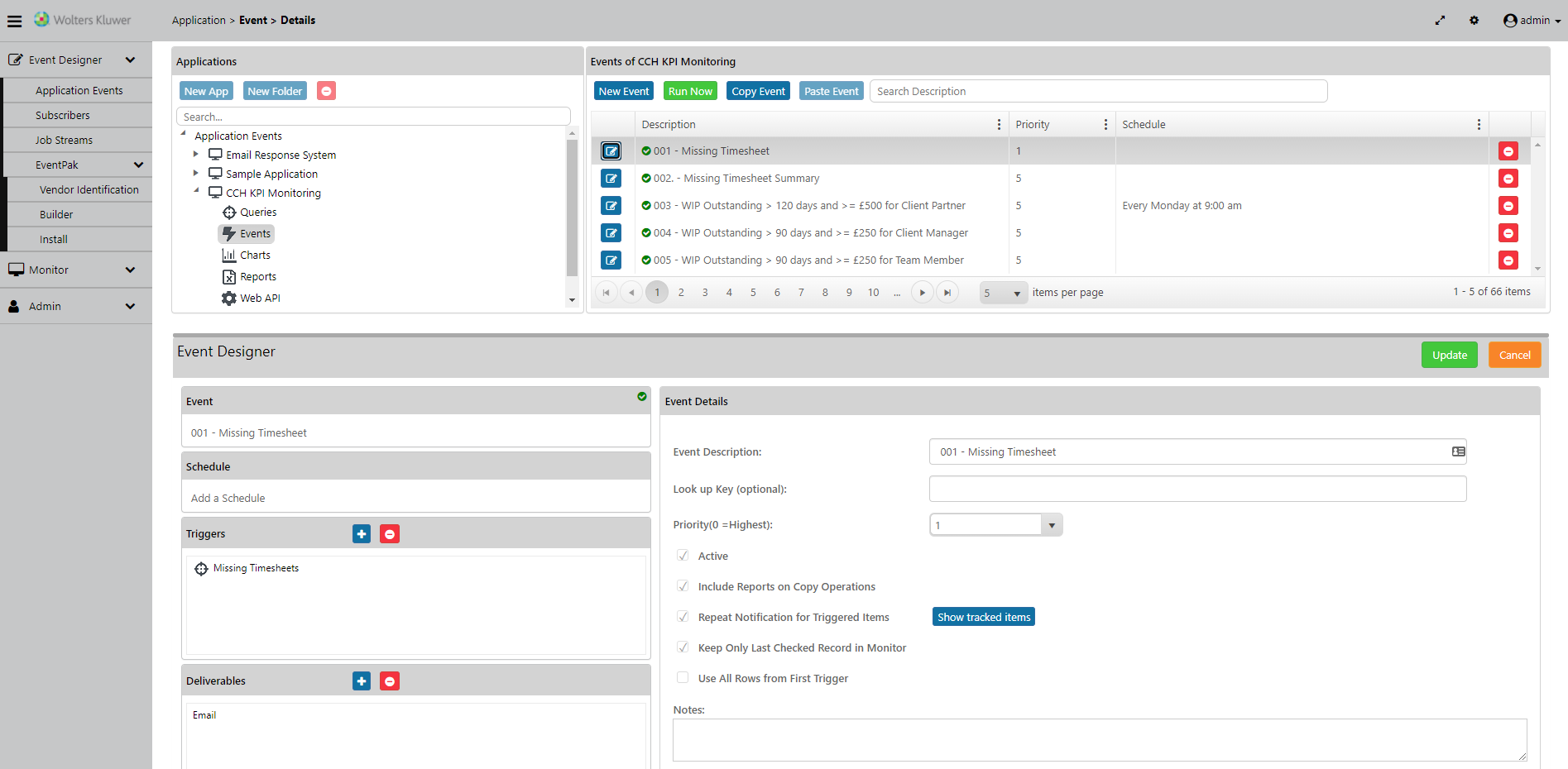 CCH KPI Monitoring new cloud interface