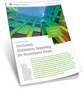 OneSumx regulatory Reporting for Investment Firms Solution Primer