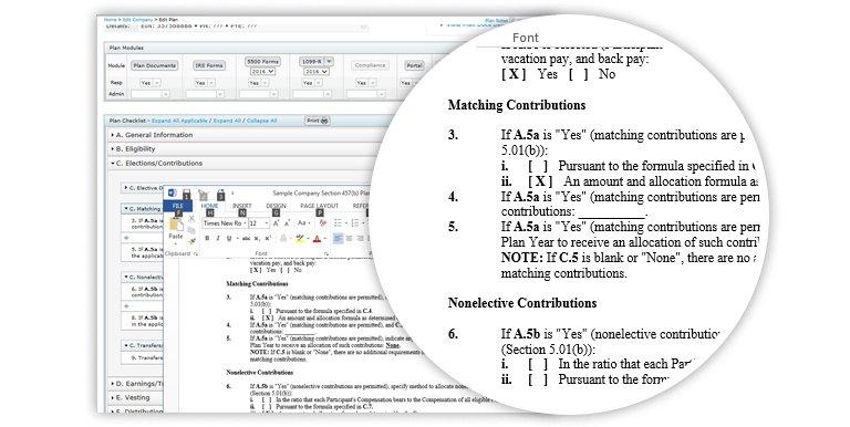 Non-Qualified Plan Documents Screenshot