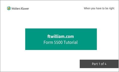 ftwililam.com Form 5500 Tutorial