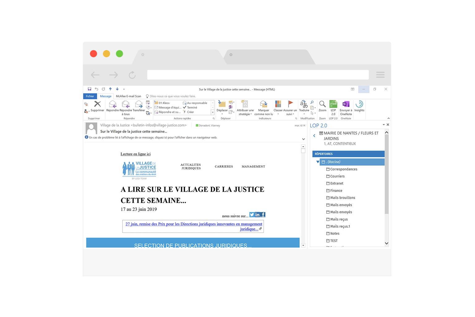 integration transparente avec microsoft office