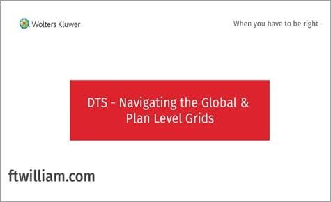 DTS Navigating the Global Plan Level Grids