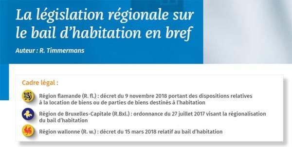 Download: Législation régionale sur le bail d'habitation