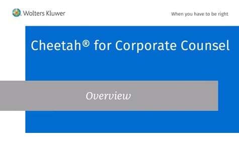 Cheetah corporate counsel