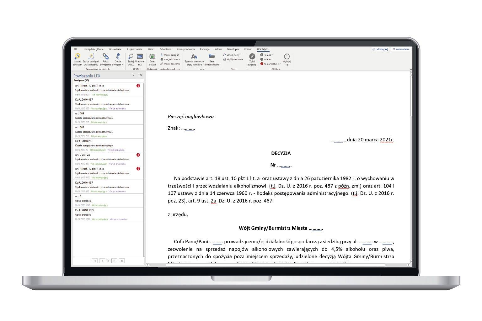 LEX Edytor w LEX Administracja