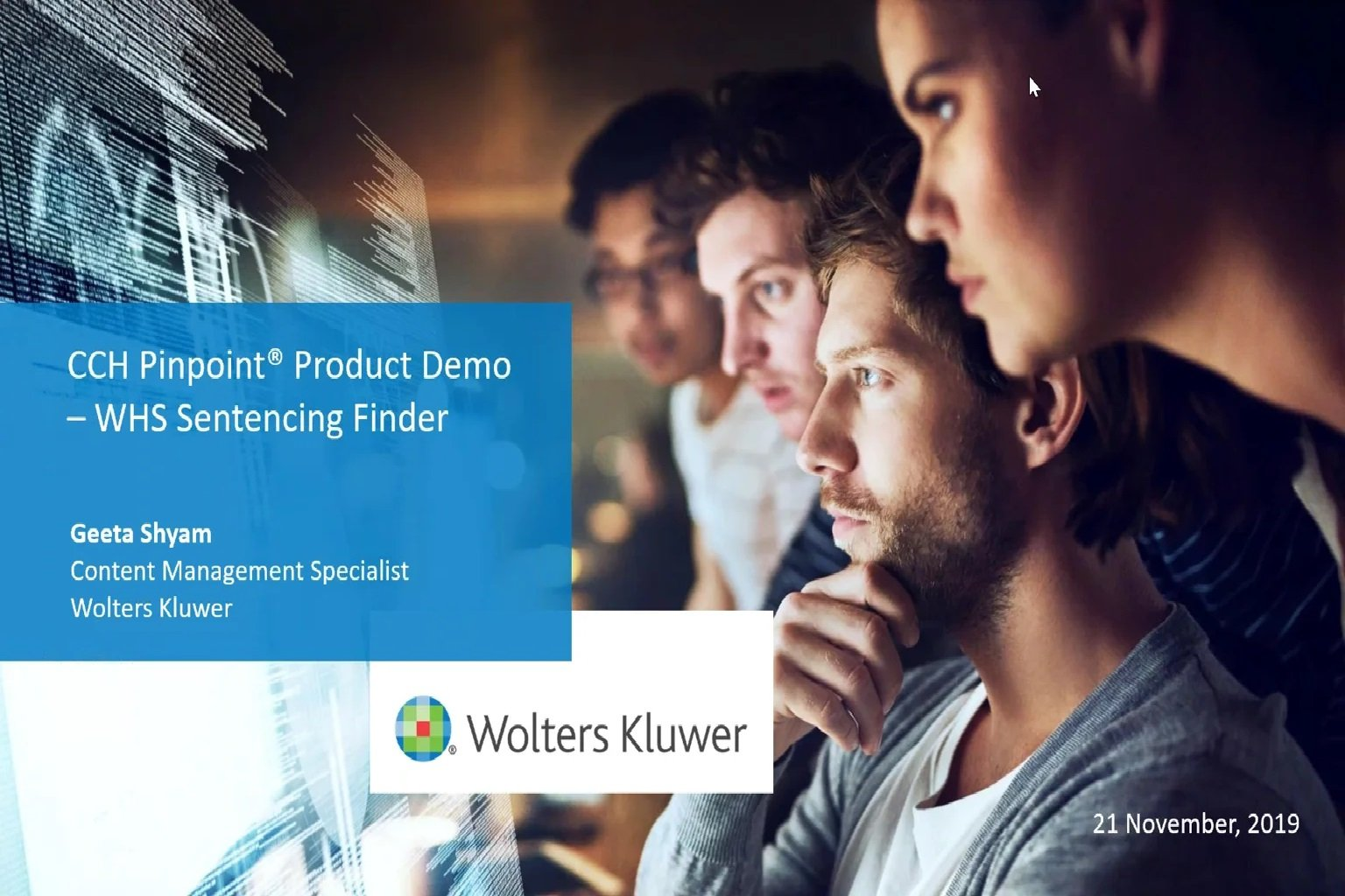 WHS Sentencing Finder Product Demo