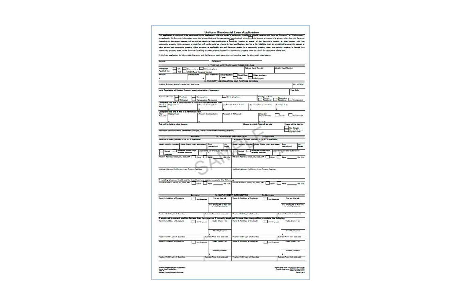 Uniform Residential Loan Application - FNMA