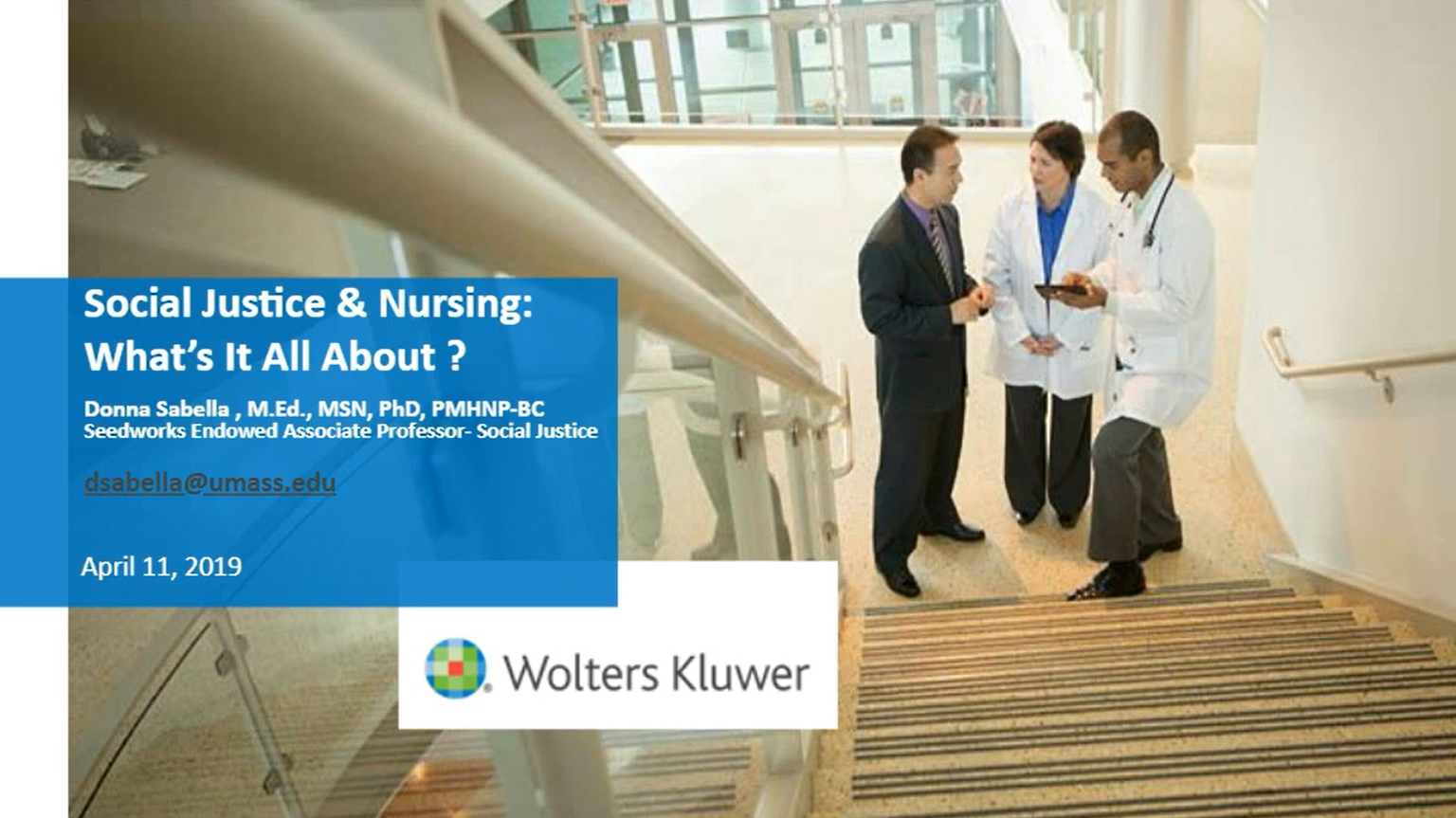 Screenshot of Social justice and nursing: What's it all about? video